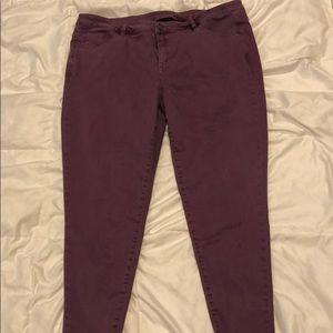 Lane Bryant Plum Skinny Ankle Jeans sz 22